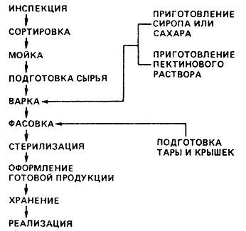 Технологическая схема производства варенья
