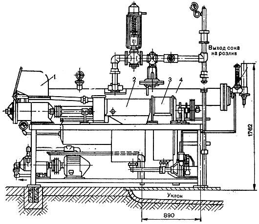 Схема агрегата КТСА - 30 - 30
